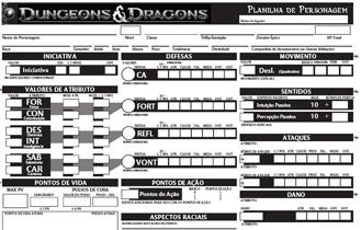Ficha de RPG - D&D 4E