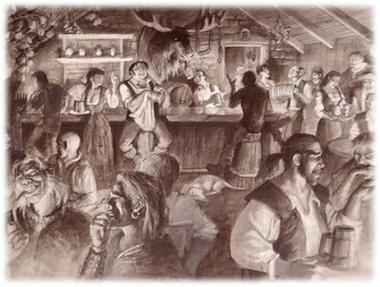 Bebendo na Taverna