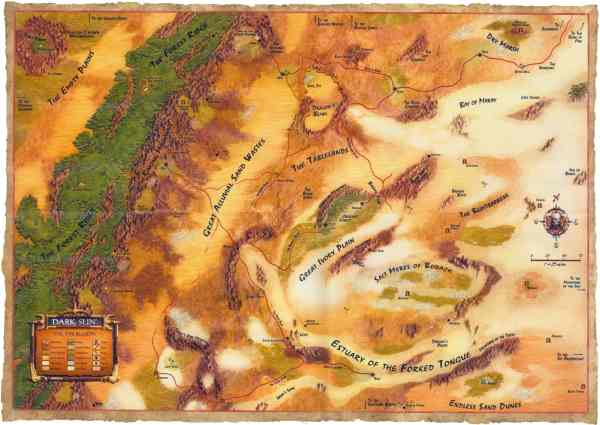 Mapa de Athas (Dark Sun)