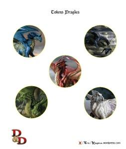 D&D Tokens Set II Dragões