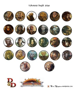 D&D Tokens Set I Personagens de Dark Sun
