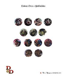 D&D Tokens Set IV Orcs e Goblinóides