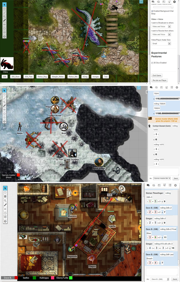 Roll20 Screens