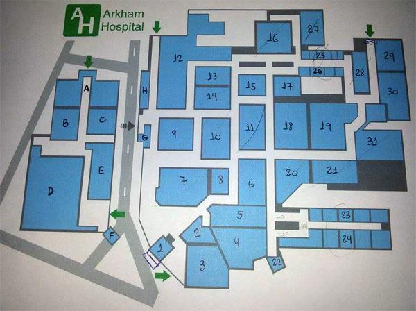 Arkham Hospital 1st Floor