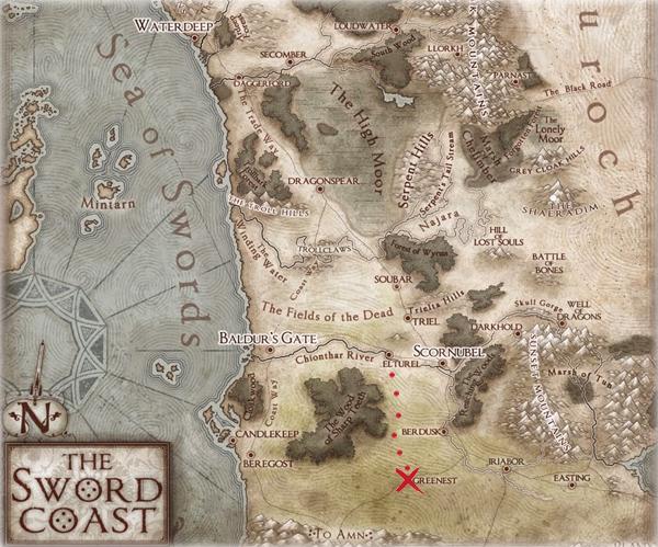 Sword Coast Map - Greenest <> Elturel